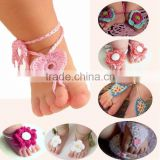 Wholesale photo props newborn baby crochet barefoot sandals M5040703
