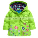 Fashionable 100% polyester children's hooded jacket