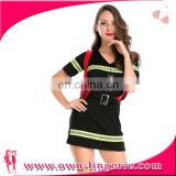 hot sale Women's firemen costume with Suspenders