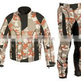 100% High Quality Cordura Motorcycle Suit/Camo Full Safety Motorbike Suit/camo motorcycle suit
