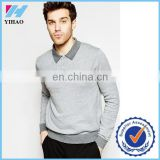 Yihao Trade Assurance Contrast Colour Long Sleeve 100 Cotton/Polyester/CVC/TC Pique Fabric Unbranded Polo Shirts