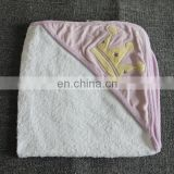 Hot Selling Embroidery Hooded Towel Cheap Kids Hooded Towel Poncho Pattern 100 Cotton Hooded Baby Clothes Terry Towel