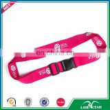 2016 cheap combination logo print pink luggage strap
