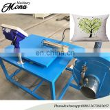 Easy to operated volume polyester fiber pillow filling machine with scale table