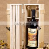Inquiry about Antique color single bottle paulownia wood wine box                        