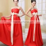 New Red Long Chiffon Evening Formal Party Ball Gown Prom Bridesmaid Dress Stock6 -18