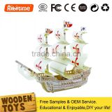DIY Wooden Ship Model Educational Puzzles Boats For Kids