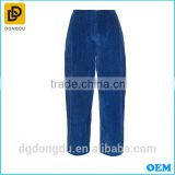 New Wide-leg Design Women Pants and Corduroy Cropped Cargo Trousers