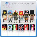 Mini Qute Kawaii CLK Nutcracker Doll diamond plastic building blocks bricks Anime cartoon model educational toy