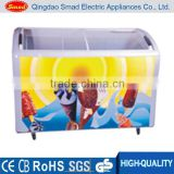 Professional Design sliding glass door small deep freezer