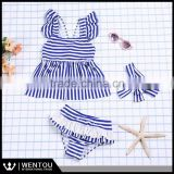 Wholesale Bathing Suits Stripe Ruffled Two Piece Baby Bikini for Girls