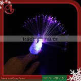 Lighted Up Toys Peacock Finger Ring,Led Finger Light, Fiber Optic Light Party Decoration