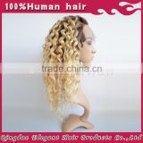 Heavy density ombre kinky wigs full lace wig remy virgin malaysian kinky curly full lace wigs