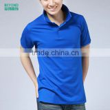 cotton bamboo fiber polo t shirt with custom print or embroidery