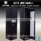 Electronic gun safe box,office and home gun cabinet with removable shelf