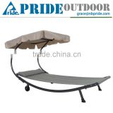 Double Hammock with Steel Stand and Sun Shade Hanging Hammock Chair Garden Swing Hammock