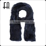 ZK-A-224 rabbit fur muffler/rabbit knitted fur muffler