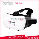 2016 hot selling Plastic Google Cardboard Version 3D VR BOX 5.0 Virtual Reality Adjustable 3D Glasses VR Headset Headmount