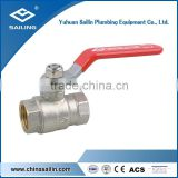 F/F brass forged nickel plated ball valve with brass ball and iron handle good selling in the market