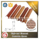 Wood grain aluminum edge corner guard for decorative wall