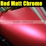 Air free Chrome Red Matte Vinyl Wrap Car Sticker Film / Size 1.52 x 30 Meter