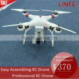 2016 HOT sale model long time flight easy handling 1080P HD camera drone with brusless gimbal