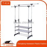 Hot Sale Double Pole Stainless Steel Clothes Drying Rack, Laundry Dryer Rack