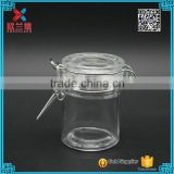 In Stock 50ml Clear Kitchen Food Storage Airtight Seal Lock Lid Jar/glass Jar With Metal Clip                                                                         Quality Choice