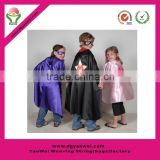 Hot promotional halloween costums party cloak kids polyester superhero capes