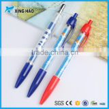 cheap advertising multi-color promotional retractable brand banner ball pen pull out banner pen