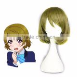 Fashion Style Wig Hair Love live! Koizumi Hanayo Cosplay wig Light Green color anime hair high temperature wire wig+Hairnets