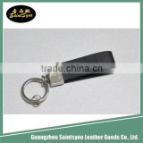 Wholesale manufacture promotion custom metal real leather key chain genuine leather key chains