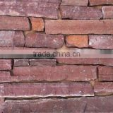 Exterior Natural Red Sandstone Wall Covering