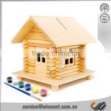 Kid's DIY Wooden Piggy Bank House for christmas gift