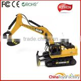 R23026 2015 New Product 1:20 Scale 8CH Digger Remote Control Excavator RC Excavator For Sale