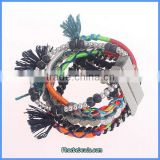 Wholesale Hot Handmade Braided Leather Magnetic Bracelet For Women FHB-002A