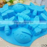 6 Cavity Beetle Dragonfly Butterfly Insect Silicone Cake Mould Muffin Cup Soap Mould Chocolate Mould Baking Tray