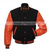 Wool Varsity Bomber Jacket school/youth size Varsity jackets,Baseball varsity leather jacket for men