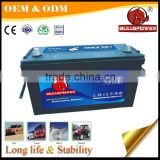 maintenance free 12v 100ah 12v l2-400 auto battery military vehicle battery