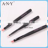 ANY Nail Art UV Gel Nails Design Mini Matt Black 3PCS Set Wood Handle Nail Brush Cheap Price