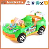 New custom pull line car toys with bell