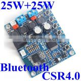 Bluetooth CSR 4.0 audio Receiver Module + Digital Power Amplifier TDA7492P 25w *2 for active speaker
