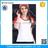 Custom Women Baseball T Shirt Short Sleeve Plain Baseball Tee Cotton Casual Baseball Shirt