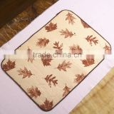 Household superfine fiber composite jacquard bath mat table mat floor mat