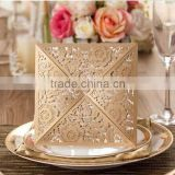 Free sample Luxury Royal Wedding Invitation Card packaging Custom Greeting Card Elegant Laser Cut Wedding Cards packaging