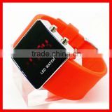 Mirror face silicone led touch screen watches waterproof