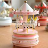 Wooden Crafts Carousel Music Box,wooden toys for promotion gift