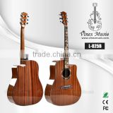 L-825B 41' sapele body high-gloss rosewood fingerboard with inlay bamboo acoustic guitar