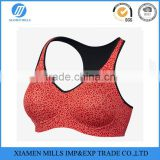 WOMEN'S SPORTS BRA V-neck and wide straps Ultra-soft Dri-FIT fabric padded running bra fashionable fitness bra