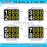 France Led digital motorcycle race sign /LED racing bicycle display board/Led automobile race digital display board